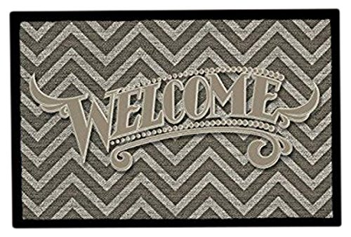 Achoka Welcome 97 Paillasson Polyester Imprimé 60 x 40 x 1 cm