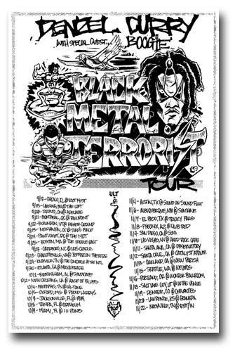 Denzel Curry Poster Concert Promo 11 x 17 inches Black Metal Terrorist Tour Dates ()