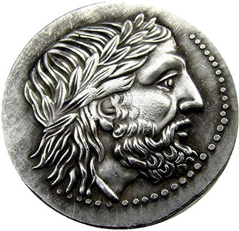 Truteraa - Rare Griego Antiguo de la Moneda de Plata Tetradracma del Rey Filipo II de Macedonia - 323 AC Monedas DE COPIADO: Amazon.es: Hogar