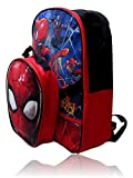 Marvel Spiderman Backpack W/Detachable Shaped Insulated Lunch Box