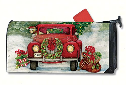 MailWraps Bringing Home the Tree Mailbox Cover 01010