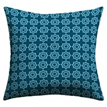 DENY Designs Khristian A Howell Moroccan Mirage Blue Outdoor Throw Pillow, 26-Inch by 26-Inch