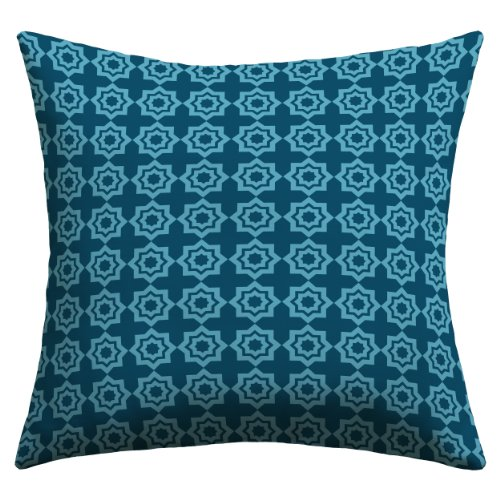 DENY Designs Khristian A Howell Moroccan Mirage Blue Outdoor Throw Pillow, 16 by 16-Inch