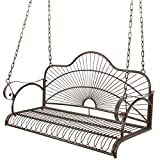 BBBuy Treated Porch Swing – Antique Metal Iron Patio Hanging Porch Swing Chair Bench Garden Swing Seat with Chains Outdoor Furniture Yard Review