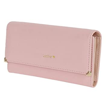 203569dc91af Yiuswoy Ladies Purse Clutch Pu Leather Wallet Large Capacity Wallet Coin  Purse With Card Slots Wallets For Teenage Girls - Pink: Amazon.co.uk:  Luggage