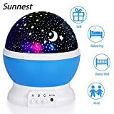 Night Light for Children, Sendis Baby Star Projector Night Light Kids Rota