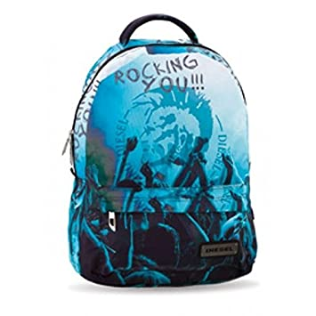 Diesel - Mochila escolar Diesel rocking azul, color Azul: Amazon.es: Equipaje