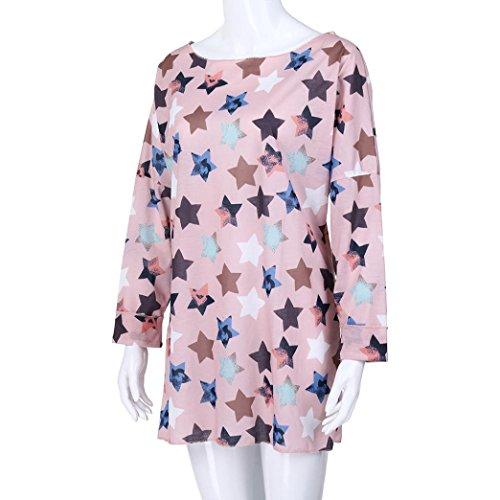 La Imprimer zahuihuiM Cou Nouvelle Dress Tops Automne Manches Longues Rose Point toiles Taille Plus O Femmes ChemiseFive Mode Printemps Casual Blouse 6vrcWUvH8