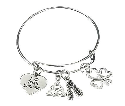Amazon.com: Irlandés Dance bracelet- las niñas Danza Joyería ...