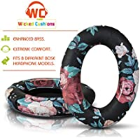 Wicked Cushions Bose Replacement Ear Pads Kit - Compatible with Quietcomfort 2 / Quiet Comfort 15 / QC 25 / Ae2 / Ae2i / Ae2w / Sound True / Sound Link ONLY | Black Floral