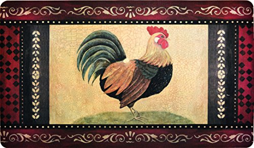 Premium Comfort Kitchen Mats (2-Pack) (Vintage Rooster)