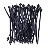 beler 50pcs 200mm Auto Car Nylon Cable Strap Push Mount Wire Tie Retainer Clip Clamp Automotive