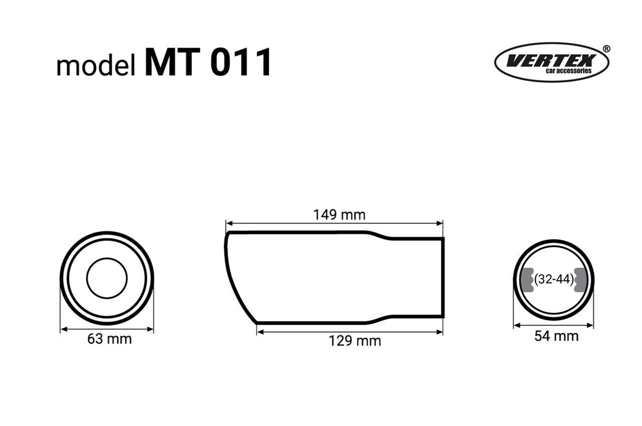 Edelstahl Endrohr Auspuffblende rund//schr/äg zum anschrauben /Ø32-44 mm Sport Optik Universal Exhaust Falke MT011