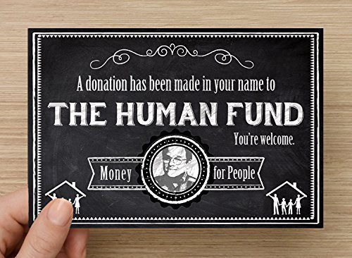 Amazon Seinfeld The Human Fund Gift Notification Card Pack Of