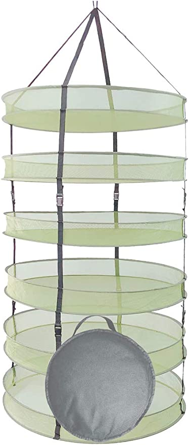 6 Levels for Herbs Square Stackable Drying Rack Flowers and Buds