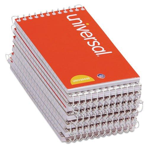 Pocket Spiral Notebook - Universal 3x5-Inch Narrow Ruled Wirebound Memo Book, 12 per Box (UNV20435-CL)