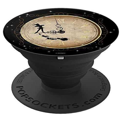 Disney Peter Pan Wendy John Michael & Tink Tick Tock Clock - PopSockets Grip and Stand for Phones and Tablets
