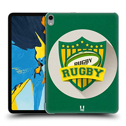 Head Case Designs Rugby Sports Badge Hard Back Case Compatible for iPad Pro 11 (2018)