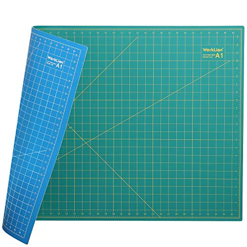 "WORKLION 24"" x 36"" Large Self Healing PVC Cutting Mat, Double Sided, Gridded Rotary Cutting Board for Craft, Fabric, Quilting, Sewing, Scrapbooking - Art Project"