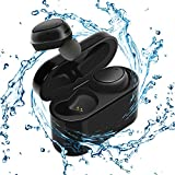 Bluetooth Headphones GULUDED True Wireless Earbuds Sweatproof Bluetooth 4.1 Noise Cancelling In-Ear Gym Headphones with Built-in Microphone and 500mAh Charging Case for Gym,Sports and Running