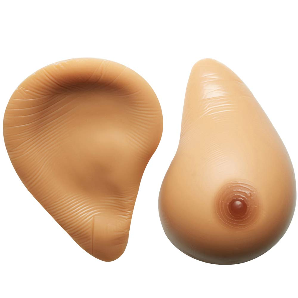BrownSkincolor Medical Silicone Breast Prosthesis False Boobs Fake Breasts Artificial Boobs Fake Breast Enhancer 1 Pair Spiral Type Breast,BrownSkincolor7XL5.3Lb Pair