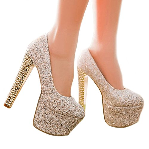 Shoes Paillette Platform High Thin Thick Colorful beige Super cut Low Heel xatzt0
