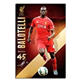 Liverpool FC Mario Balotelli Poster Gloss Laminated - 91.5 x 61cms (36 x 24 Inches)