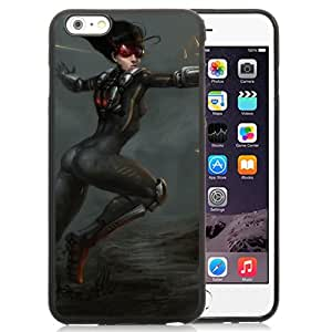 Beautiful And Unique Designed With Girl Shooting Guns Ammo Jump For iPhone 6 Plus 5.5 Inch TPU Phone Case