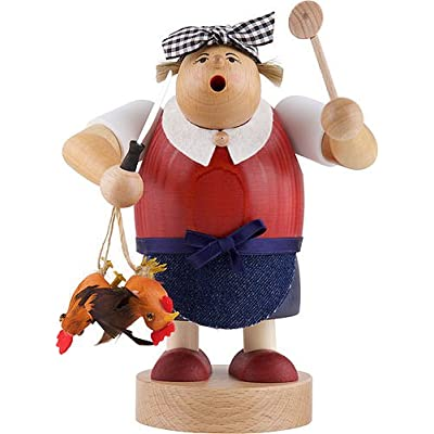 Image of KWO Smoking Man Figurine, Widow Bolte, 20 cm, Wood, Multi-Colour, 30 x 30 x 20 cm