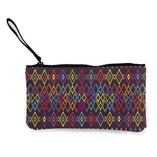 Designed For Women's Wallet Ethnic Colored Pattern Stationery Bag Purse Storage Bag Canvas Bag ()