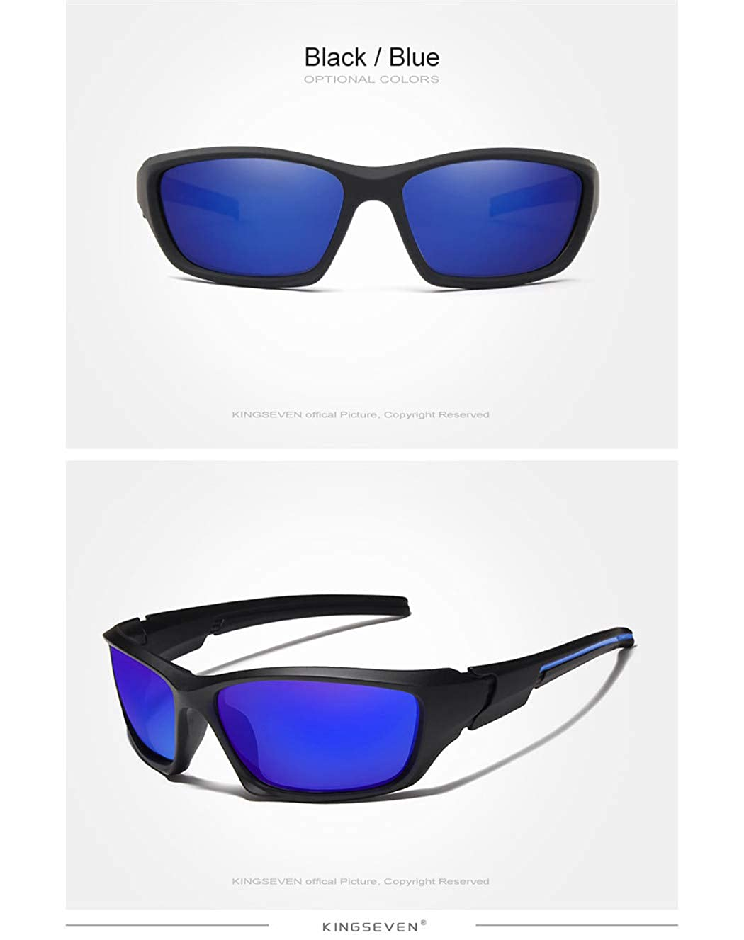 Fashion Polarized Sunglasses Men Vintage Driving Sun Glasses Male Goggles Shadow Blue