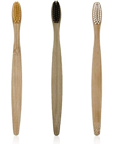 3 unids/set ecológico de madera cepillo de dientes de bambú cepillo de dientes suave