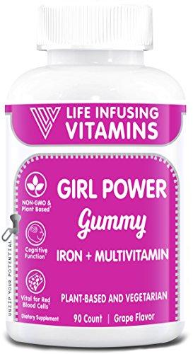 LIV Girl Power GUMMY, Iron + Multivitamins gummy, Supports G