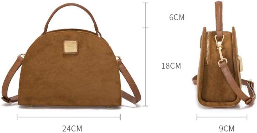 Ladies Totes Fashion Top-Handle Bags Scrub Small Bag New Shoulder Bag Messenger Bag Shell Bag Dress Bag Suitable for Any Occasion Qzny Womens Handbag Color : A, Size : 24189cm