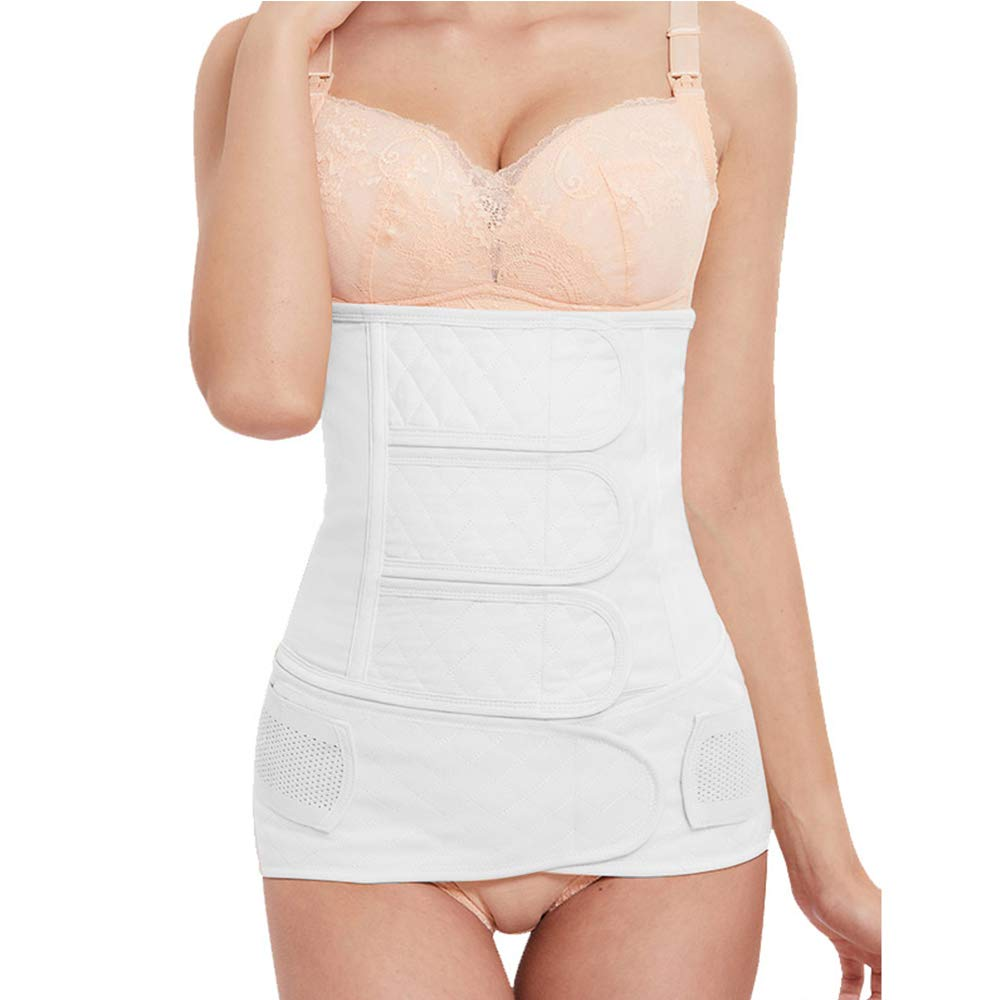 Maydolly Womens Postpartum Support Breathable Shapewear Belly Band Pink XL