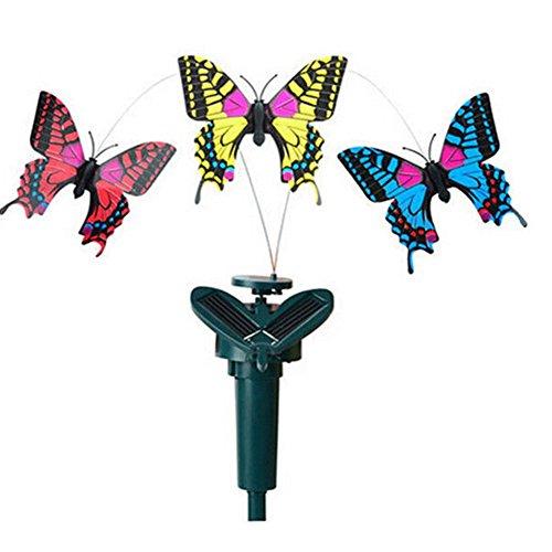Braceus Vibration Solar Power Dancing Flying Fluttering Butterfly Garden Decor