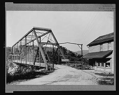 Photo: Toll bridge across Delaware River,Narrowsburg,Sullivan County,New York,NY