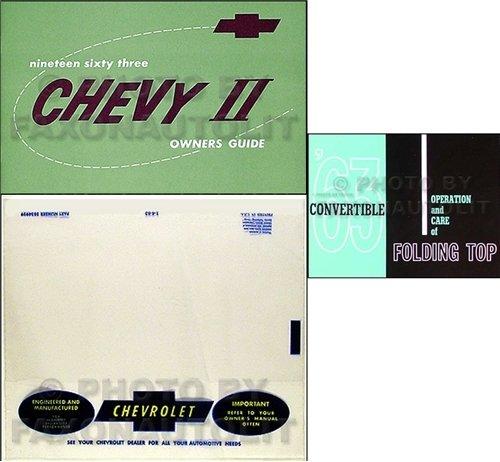 Nova Convertible - 1963 Chevy Nova Convertible Owner's Manual Set