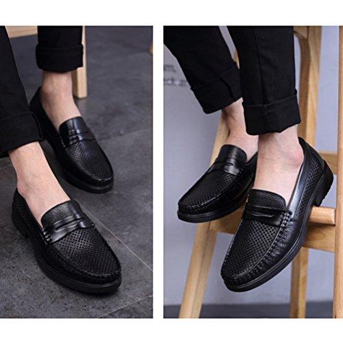 Zapatos Sintético Feidaeu Hombre Negro de AwwzEdFq