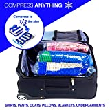 Lewis N. Clark Reusable Space Saver Compression Bags for Storage, Travel, Camping, Laundry, Pillows, Blankets + More, 3 pack (1 Med, 1 Lrg, 1 XL), Clear