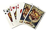 Seaside Heights, New Jersey - Pinup Showgirl (Playing Card Deck - 52 Card Poker Size with Jokers)