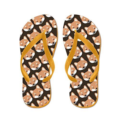 Thong Shiba Sandals Pattern Cafepress Funny Flip Orange Sandals Flops Inu Faces Beach n08wdqaRx