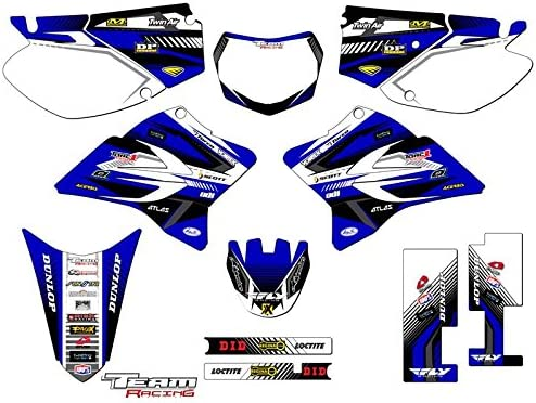 Senge Graphics 2005-2019 Yamaha TTR 230 Surge Blue Graphics Kit