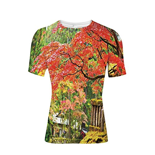 Tee Shirts Tops,Sakura Tree Cherry Blooms in Nikko Provinence Japan,Mens 3D Print