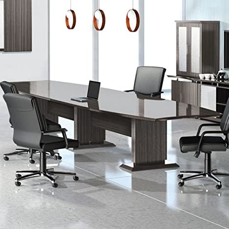 Outstanding Amazon Com 8Ft 16Ft Modern Designer Conference Room Table Squirreltailoven Fun Painted Chair Ideas Images Squirreltailovenorg
