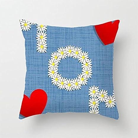 yinggouen Daisy y corazón decorar para un sofá funda de ...