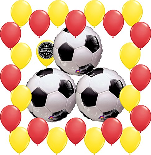 Combined Brands World Cup Soccer Ball Party Supplies Decorations Balloon Theme Bundle For (SPAIN) by Combined Brands