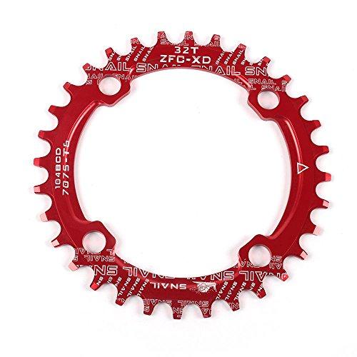 [해외] Dockooler 오토바이  (narrow)내로 와이드 체인 링 크랭크 세트 oval 라운드 싱글 체인 휠 MTB산악자전거 BCD 104MM 체인 링 32T / 34T / 36T