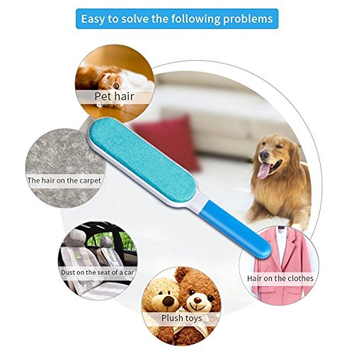 COZY HOMY Reusable Professional Pet Fur Hair Brush Lint Remover Reusable Self Cleaning For Clothing, Furniture with Self-Cleaning Base Double-Sided Brush Removes Dog & Cat Hair by COZY HOMY (Image #2)
