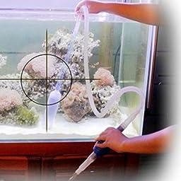 Ray-JrMALL Fish Tank Gravel Cleaner Vacuum Pump Water Changer Siphon Hose Aquarium Pool